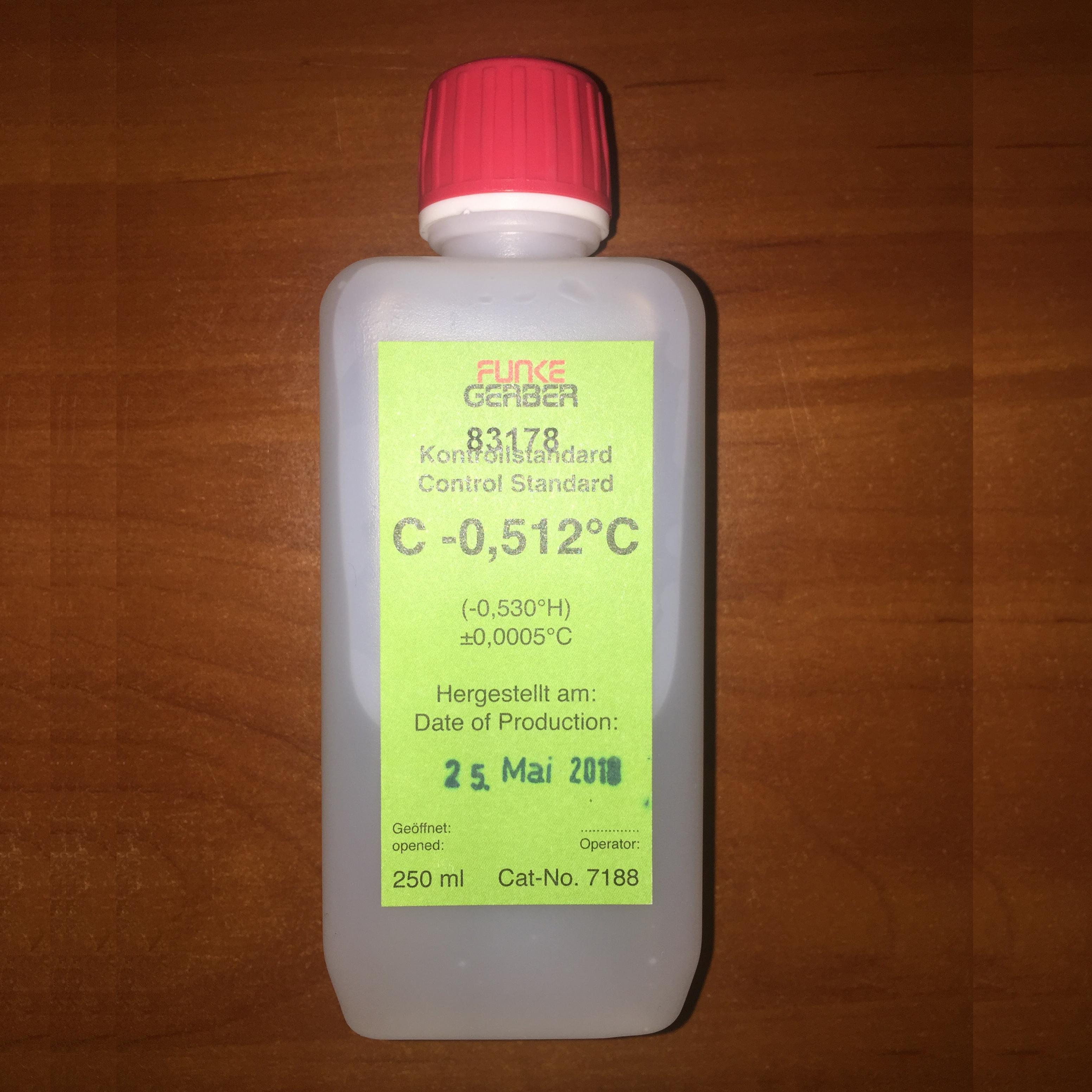 Калибровочный стандарт Funke Gerber C -0.512 C