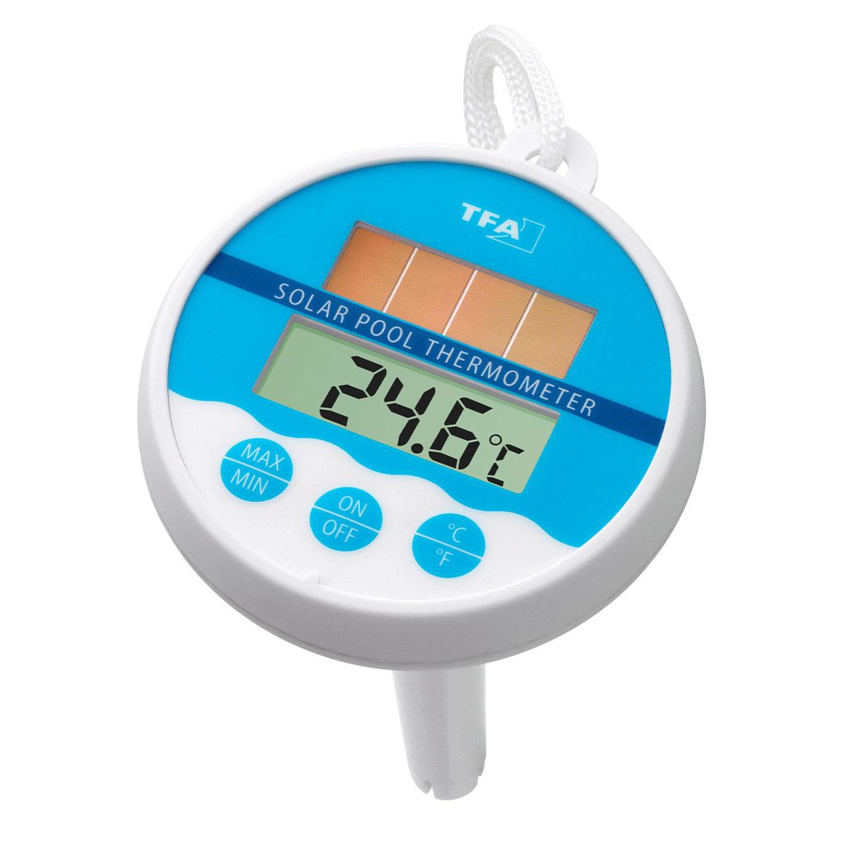 Цифровой термометр для бассейна на солнечной батарее TFA