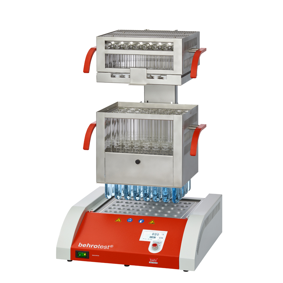 Блочные дигесторы для анализа азота по методу Кьельдаля Behr K12L, К20L с автоматическим подъемником