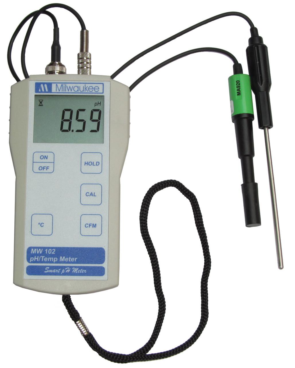MW102 Портативный pH-метр, комбинированный pH-электрод MA920B