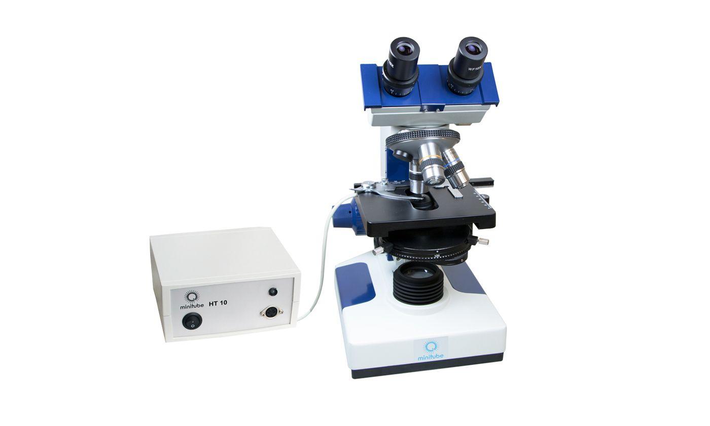 Фазово-контрастный микроскоп MBL 2000, нагревательный столик, НТ 50, 10x, 40x, 100x