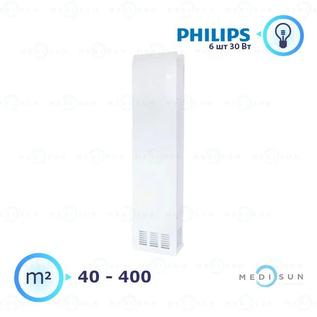 Рециркулятор бактерицидный, рециркулятор воздуха ультрафиолетовый АЭРЭКС-ПРОФЕШИН 560 Завет, лампа Philips