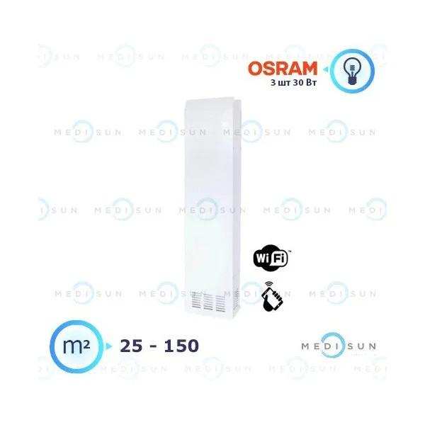 Бактерицидный рециркулятор обеззараживатель воздуха АЭРЭКС-ПРОФЕШИН 360 с WiFi Завет, лампа Osram