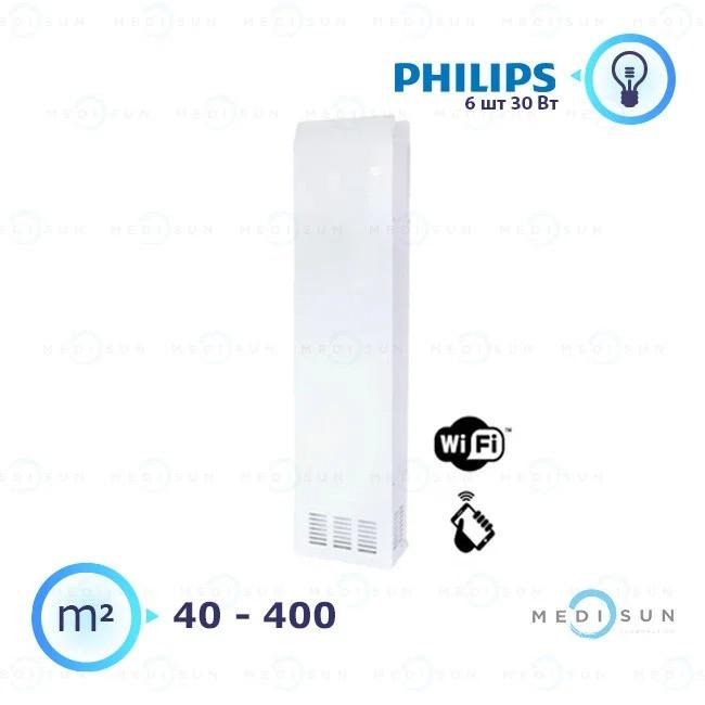 Бактерицидный рециркулятор медицинский, рециркулятор воздуха АЭРЭКС-ПРОФЕШИН 560 с WiFi Завет, лампа Philips