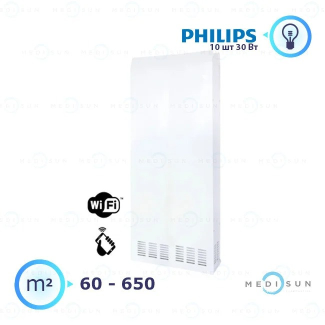 Бактерицидный рециркулятор обеззараживатель воздуха АЭРЭКС-ПРОФЕШИН 1000 с WiFi Завет, лампа Philips
