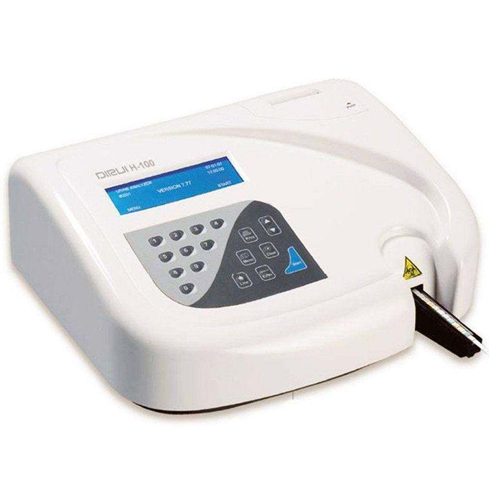 Dirui H-100 — полуавтоматический анализатор для клинического анализа мочи методом сухой химии на тест-полосках.