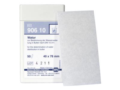 Качественная тестовая бумага Wator для определения воды в сливочном масле