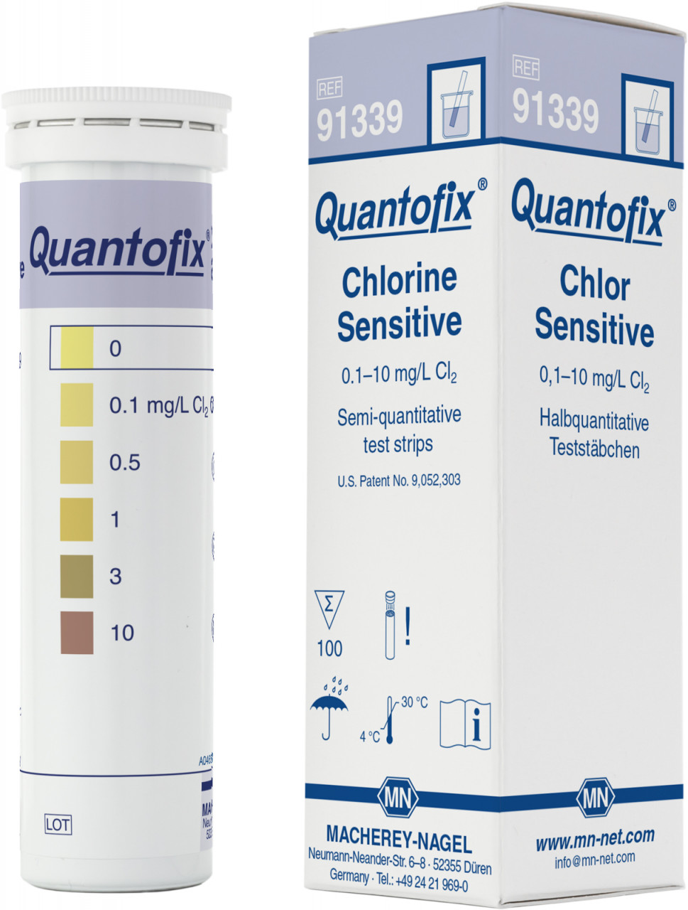 Тест-полоски QUANTOFIX Chlorine Sensitive