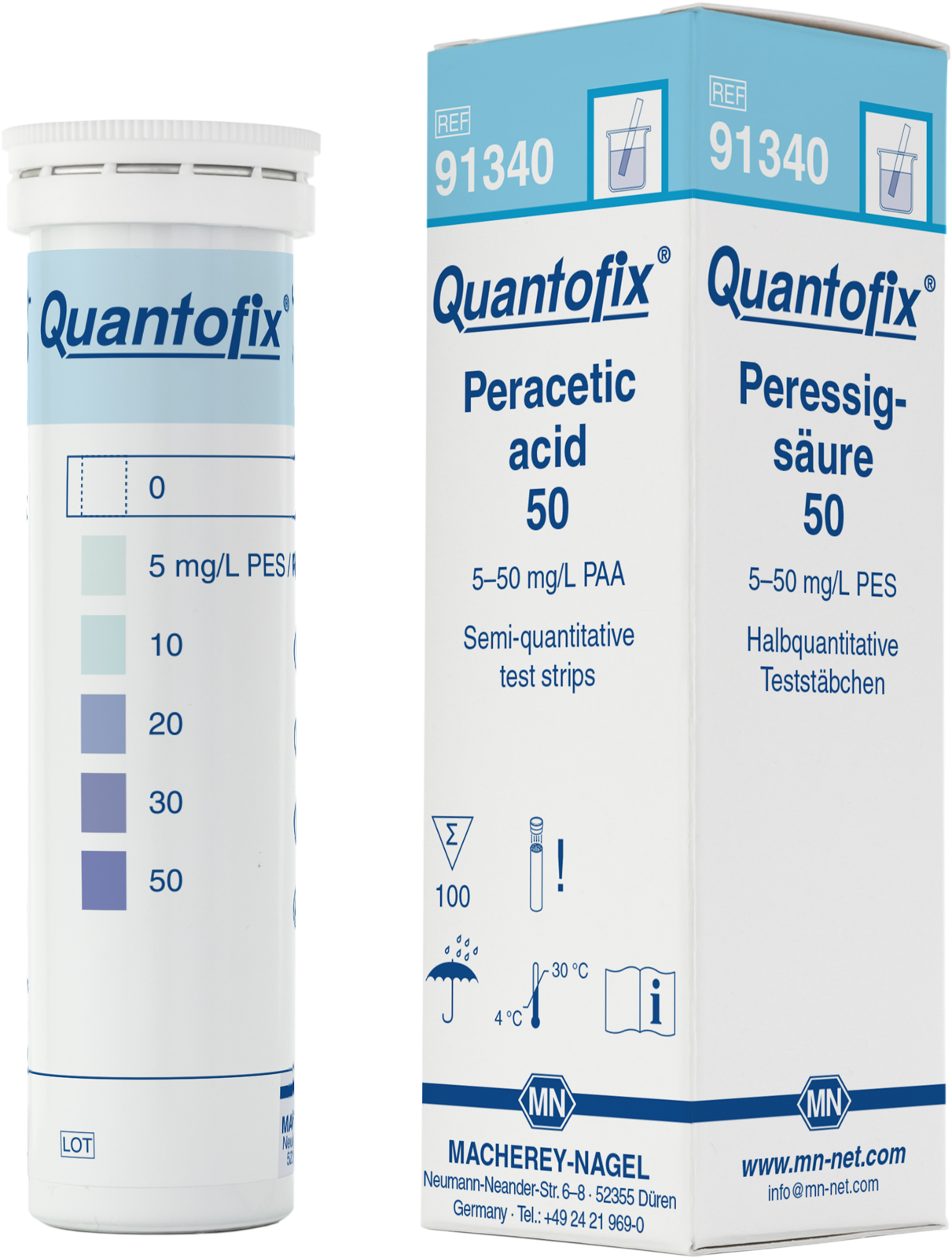 Тест-полоски QUANTOFIX Peracetic acid 50